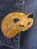 Lea Stein Gomina the Golden Cat Brooch (SOLD)